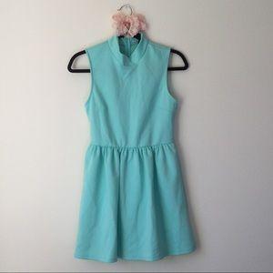 NOLLIE Mint Mock Neck Dress